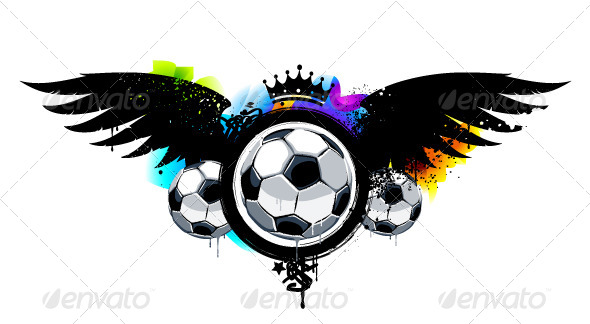 Graffiti Image with Balls - Vectors
