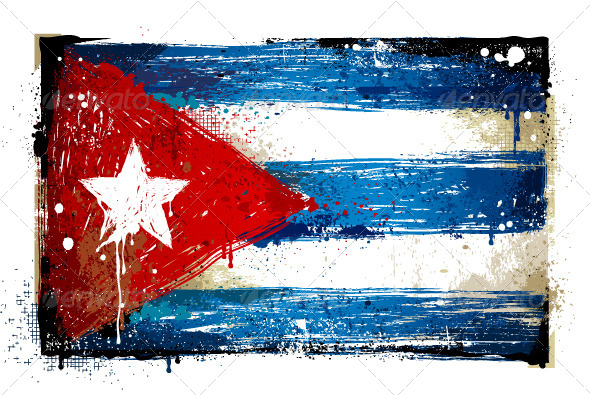 Grungy Cuban flag - Vectors