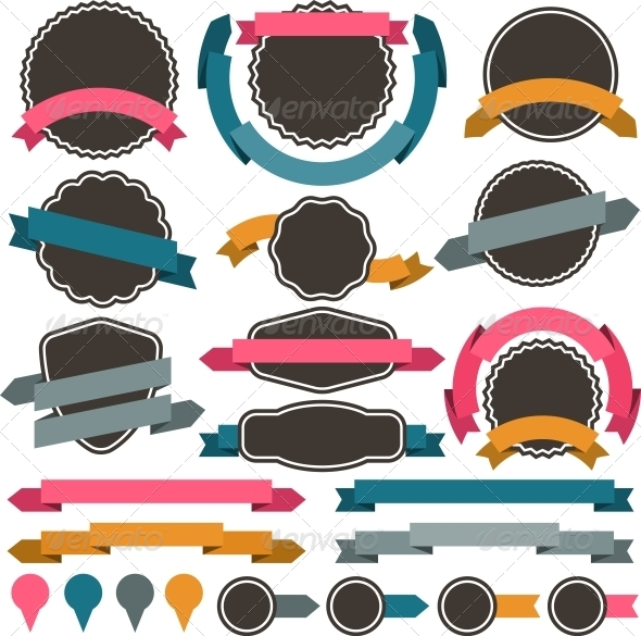 Set of Retro Design Elements. - Decorative Symbols Decorative