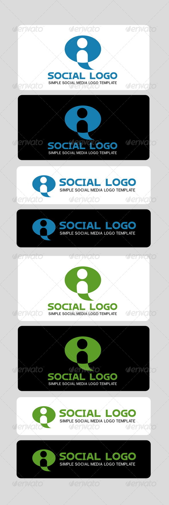 Social Logo Template - Humans Logo Templates