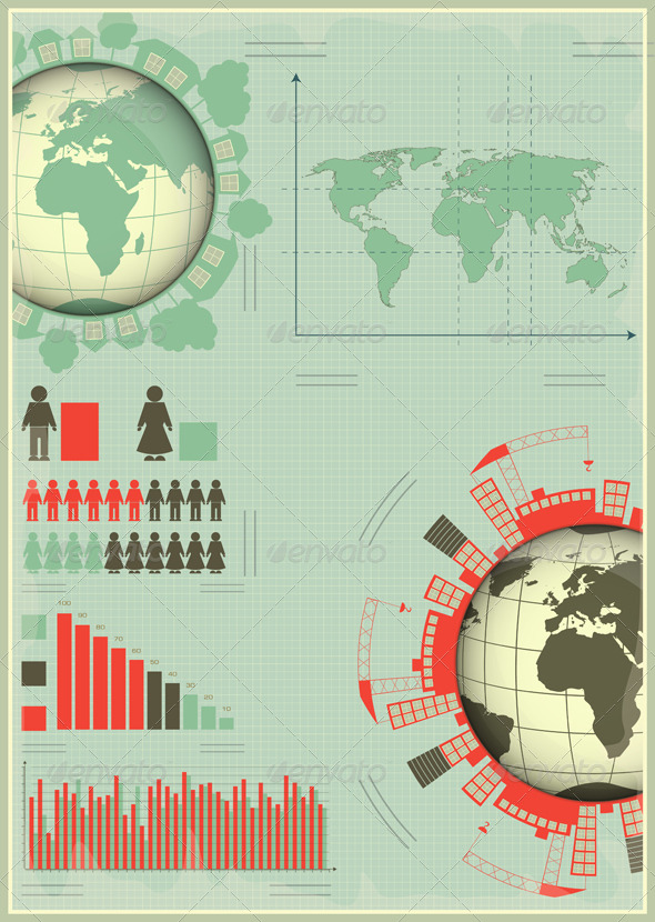 Infographics Planet Earth and Construction - Infographics