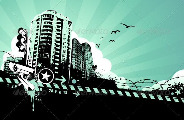 Grunge Urban Background - Vectors