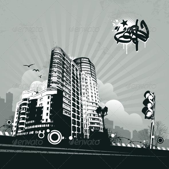 Grunge Urban Background - Vectors