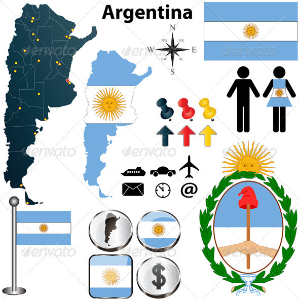 Argentina Map - Travel Conceptual
