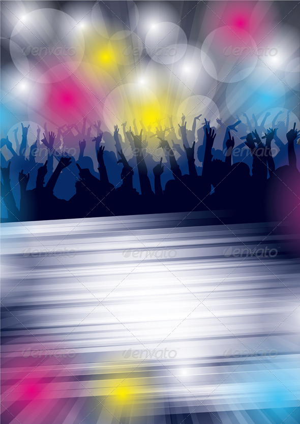 Dance Party Flyer - Seasons/Holidays Conceptual