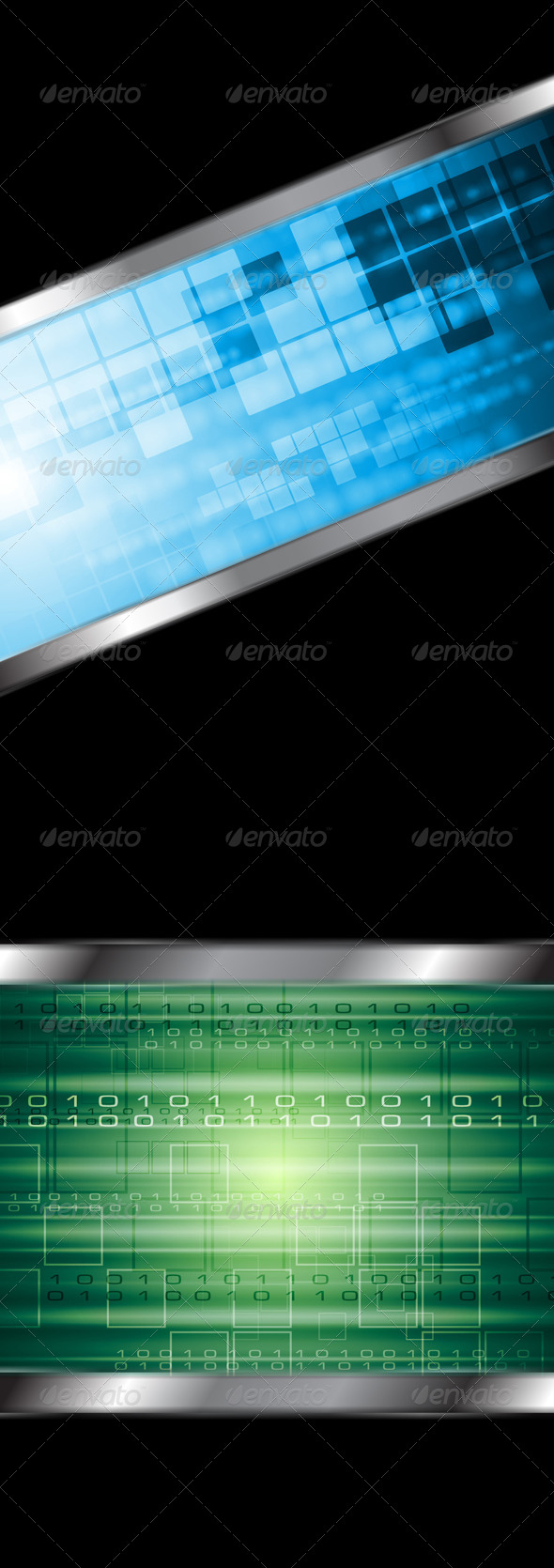 Abstract Technology Vector Background - Backgrounds Decorative