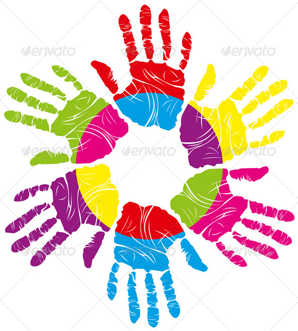 Color Hand Print - Decorative Symbols Decorative