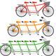 Tandem Bicycle, Team bike Set, Vector - GraphicRiver Item for Sale