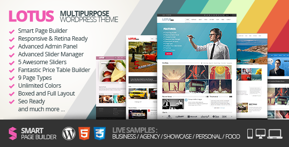 Lotus, Flexible Multipurpose & Responsive WP Theme