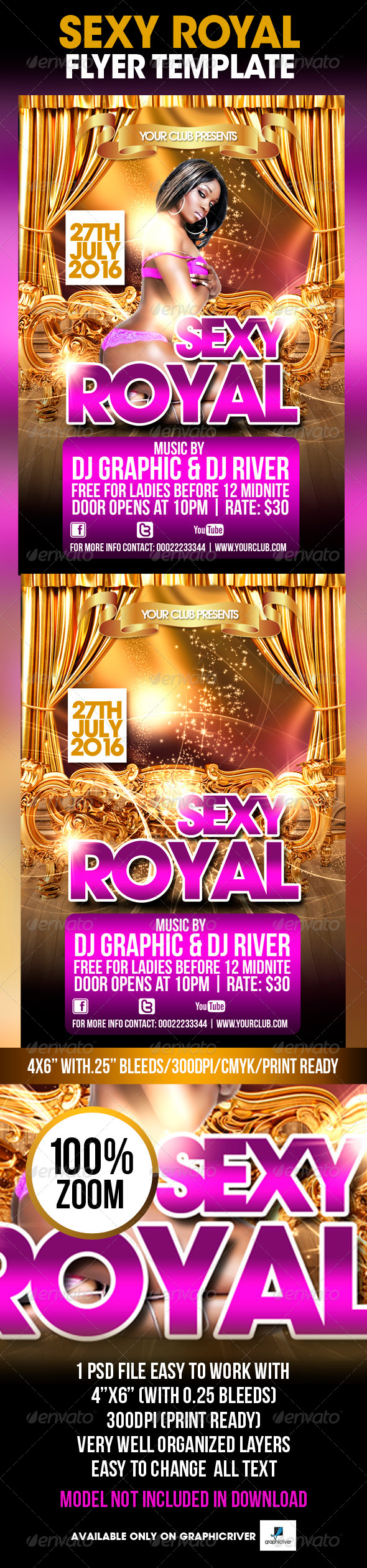 Sexy Royal Flyer Template - Flyers Print Templates