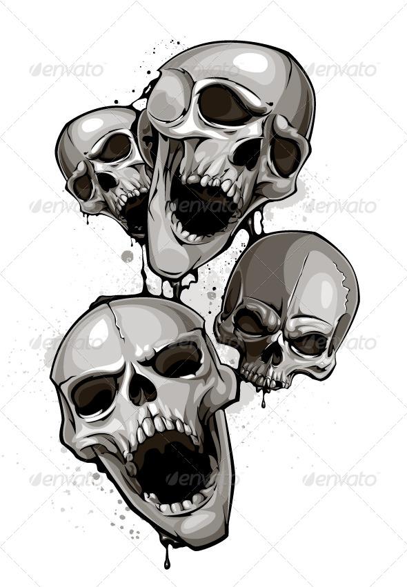 Decrepit Skulls - Vectors