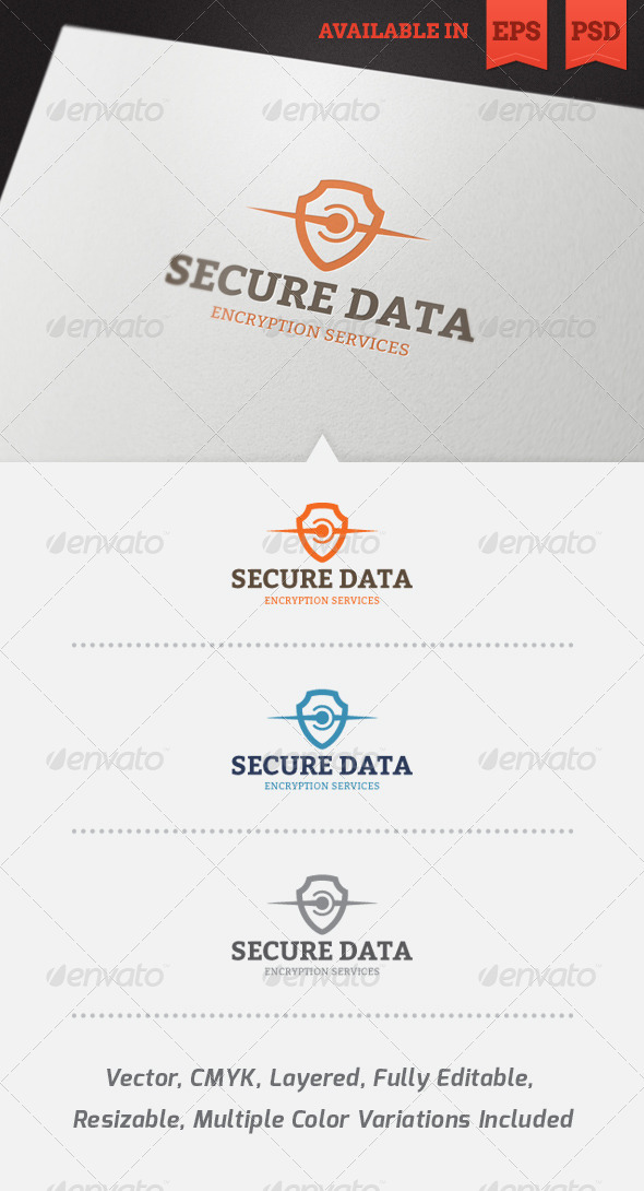 Secure Data Logo Template - Abstract Logo Templates