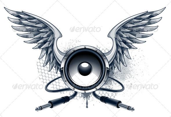 Musical Grunge Image - Vectors