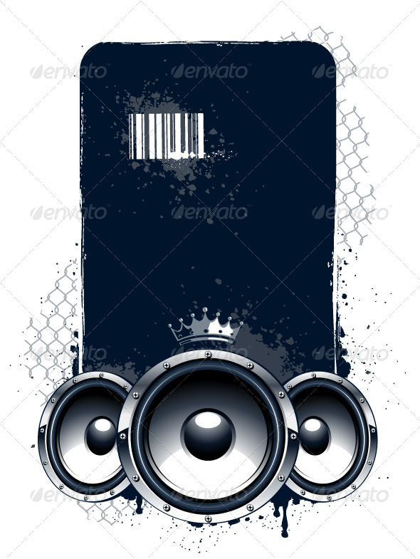 Grunge Musical Banner - Vectors