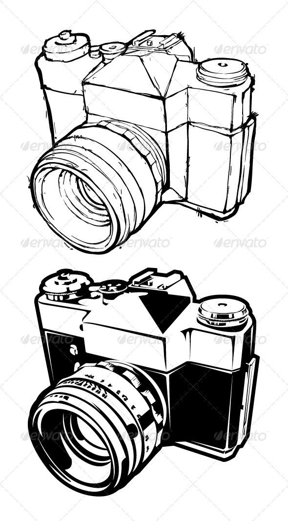 Retro Camera - Vectors