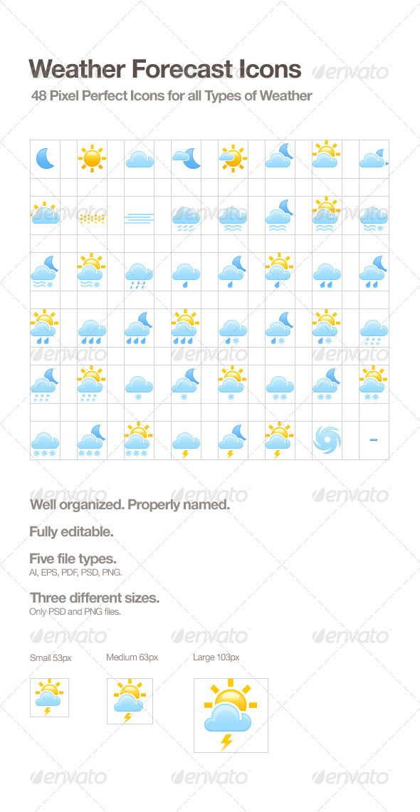 Weather Forecast Icons - Web Icons