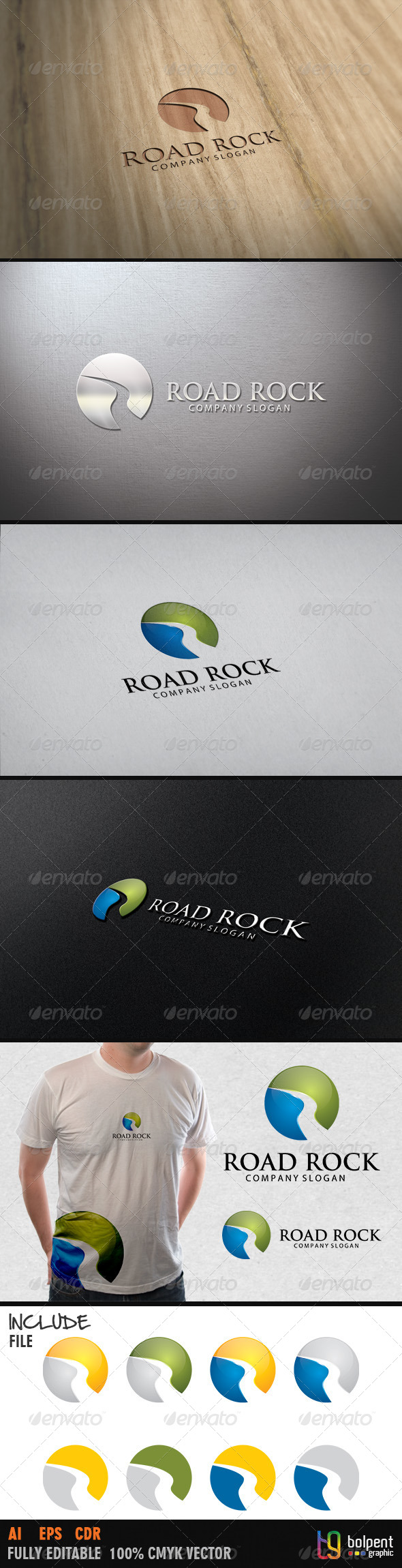 Road Rock Logo Template - Symbols Logo Templates