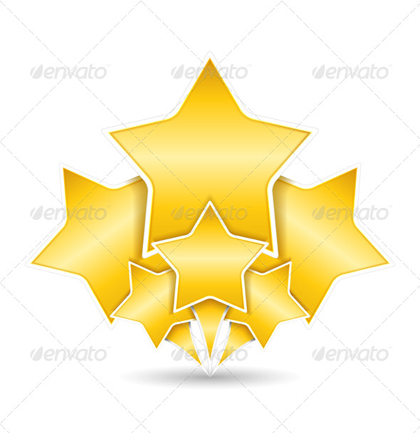 Golden Stars - Decorative Symbols Decorative