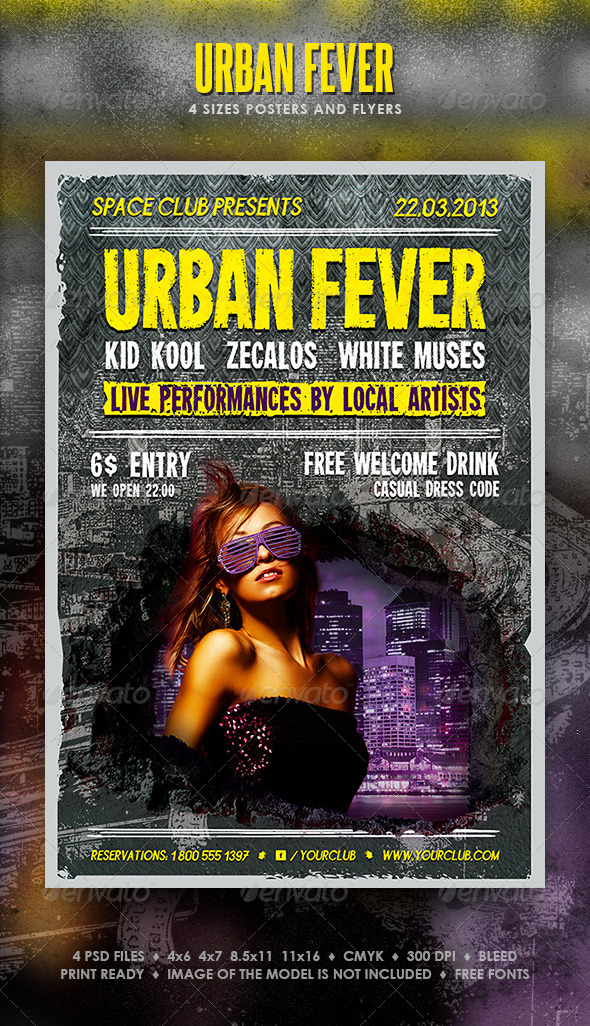 Urban Fever Posters and Flyers - Events Flyers