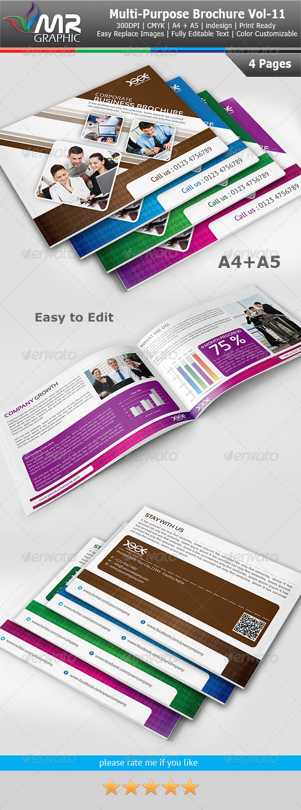 Multipurpose Business Brochure Template Vol-11 - Corporate Brochures