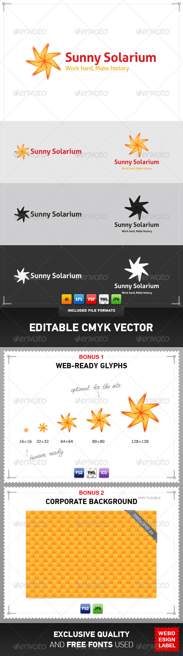 Sunny Solarium Logo - Symbols Logo Templates