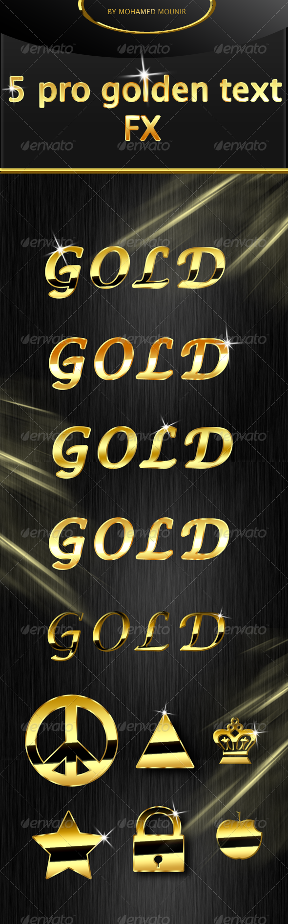 Gold Text Styles - Text Effects Actions