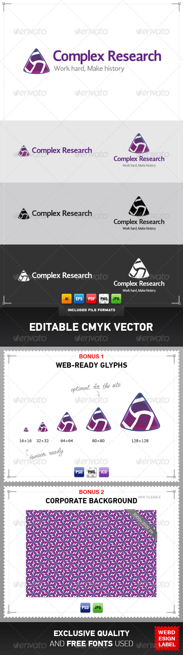 Complex Research Logo - Abstract Logo Templates
