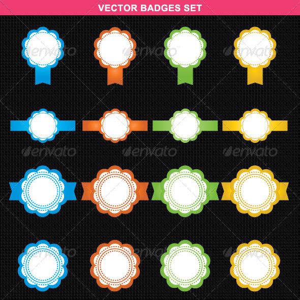Abstract Vector Badges Set - Vectors