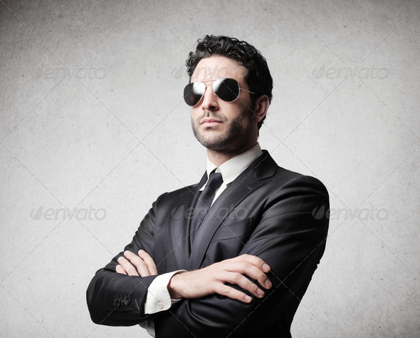 Serious Businessman - Stock Photo - Images