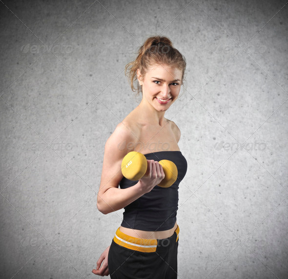 Girl Exercise - Stock Photo - Images