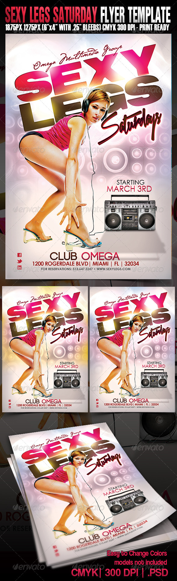 Sexy Legs Saturdays - Events Flyers