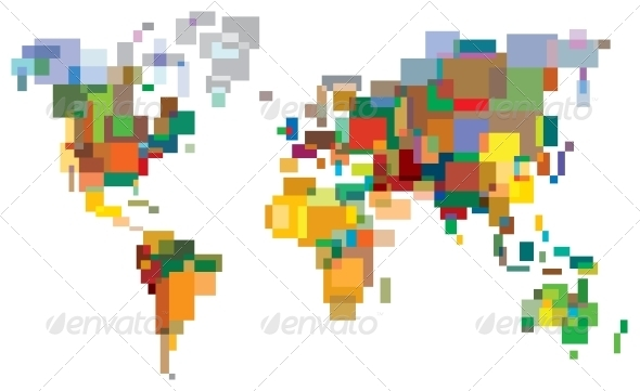 Many-Colored World - Travel Conceptual