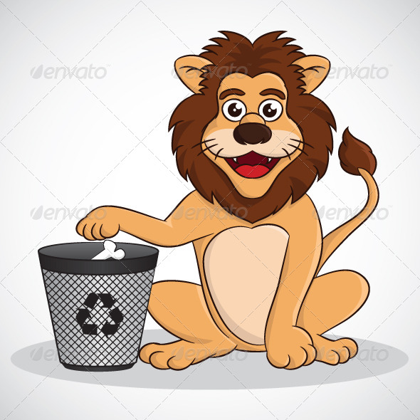 Recycle Lion - Animals Characters