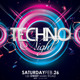Techno Night Flyer Template - GraphicRiver Item for Sale