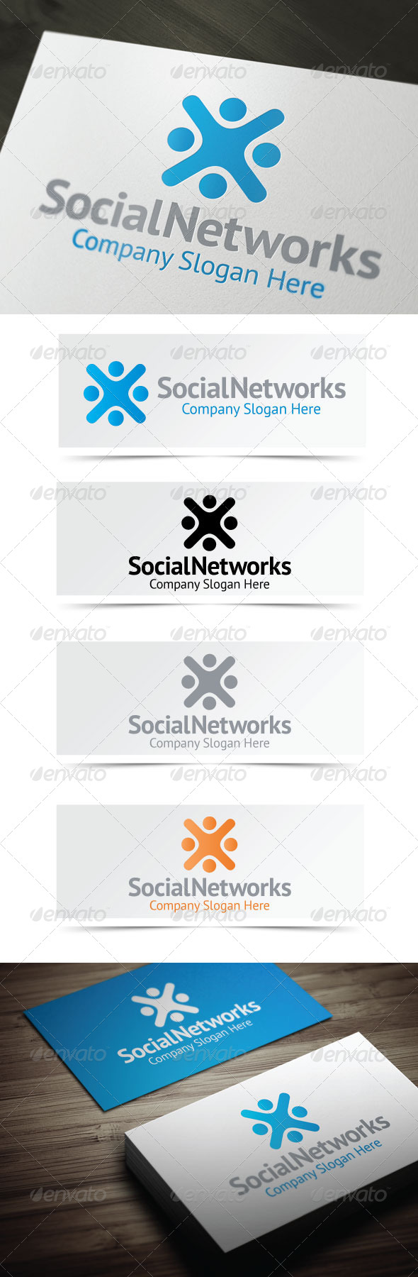 Social Networks - Humans Logo Templates