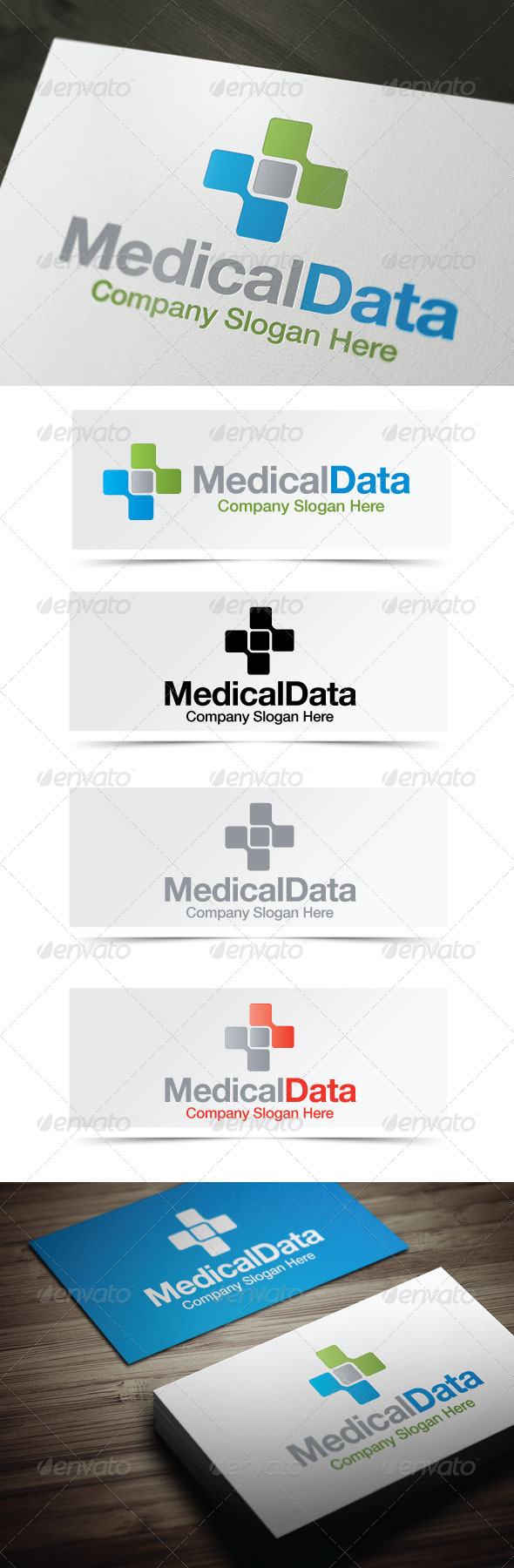 Medical Data - Symbols Logo Templates