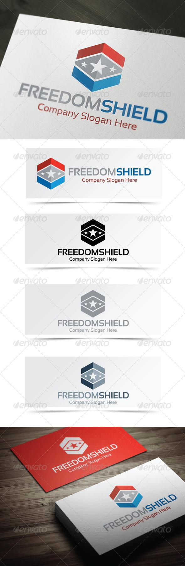 Freedom Shield - Symbols Logo Templates