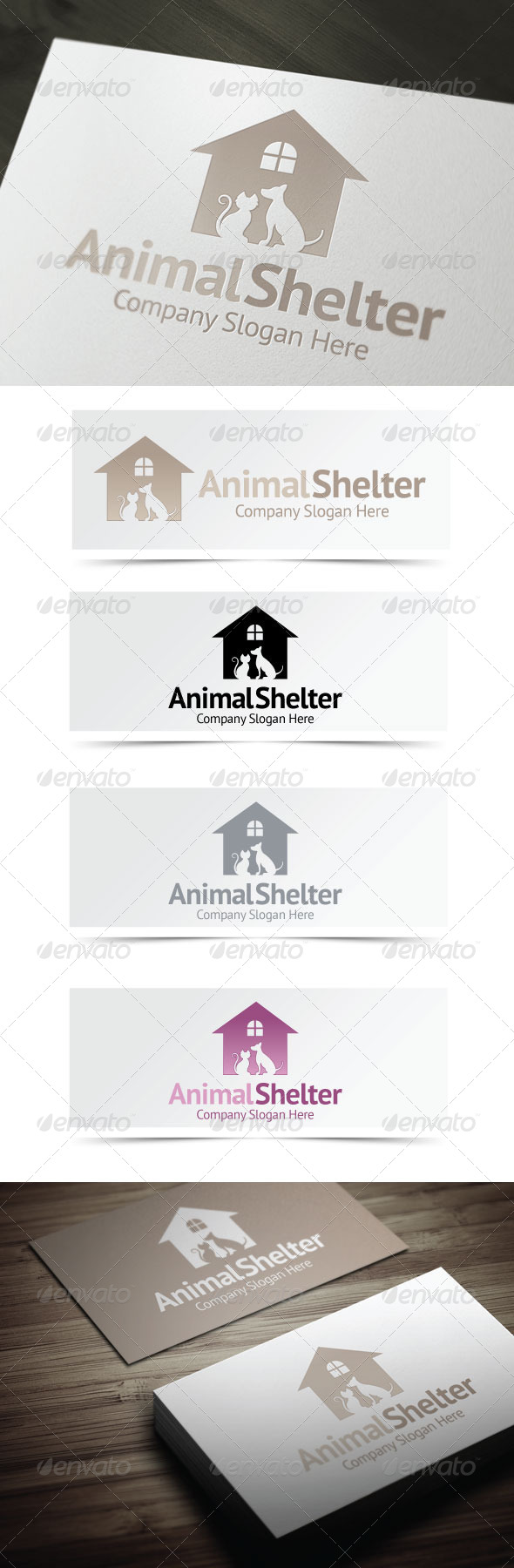 Animal Shelter - Animals Logo Templates