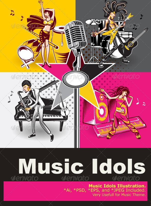 Music Star Idols - People Characters