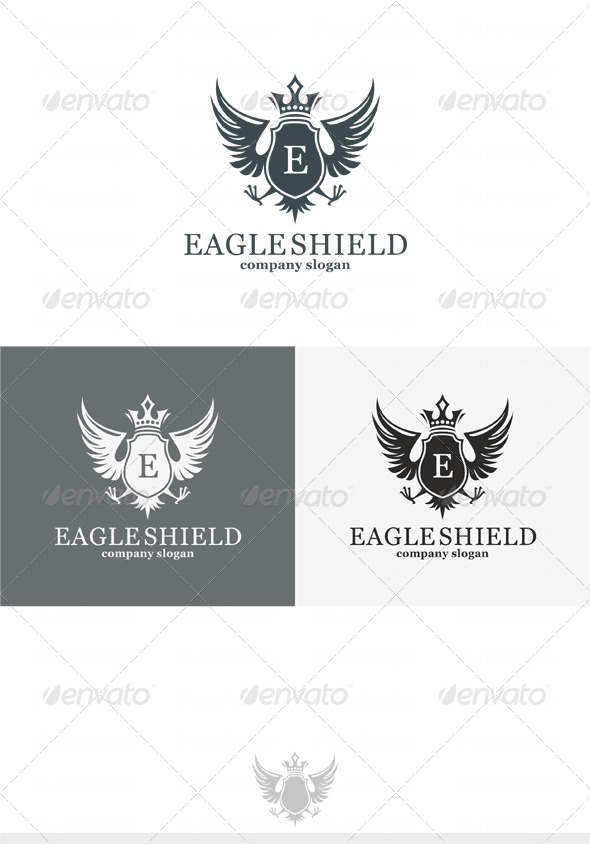 Eagle Shield Logo - Crests Logo Templates