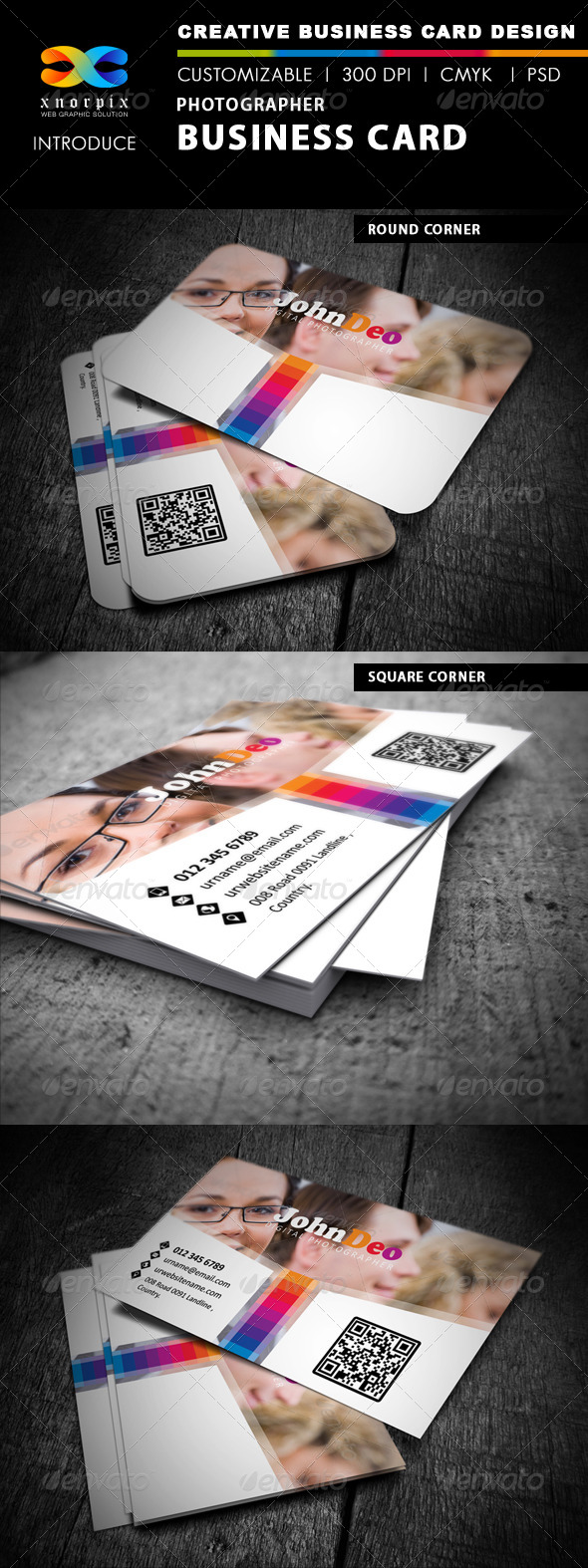 Photographer Business Card - Corporate Business Cards