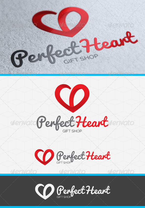 Perfect Heart Logo - Symbols Logo Templates