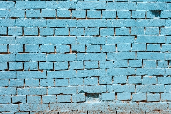 Vintage blue background brickwall - Stone Textures