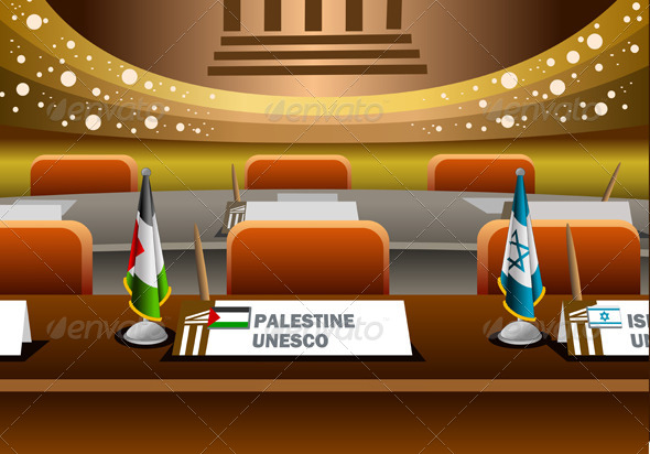 Palestine Candidate for the Seat on Unesco - Conceptual Vectors