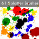 61 Splatter Brushes Set - GraphicRiver Item for Sale