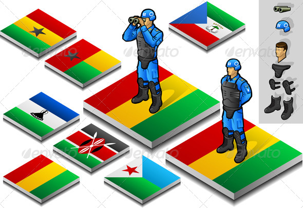 Isometric International Peacekeeper Observer - Conceptual Vectors
