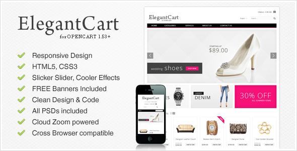 ElegantCart – A Premium, Responsive OpenCart Theme