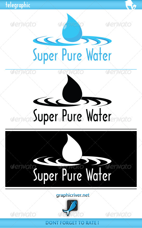 SuperPure Water Logo - Nature Logo Templates