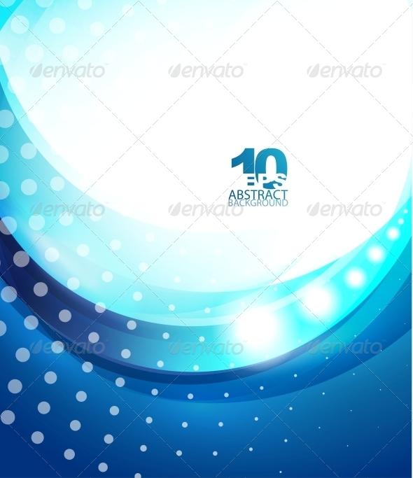 Blue Wave Business Template - Miscellaneous Vectors