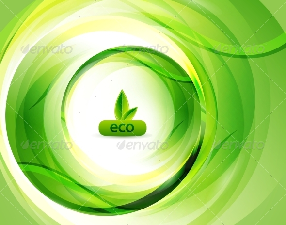 Green Eco Abstract Background - Miscellaneous Vectors